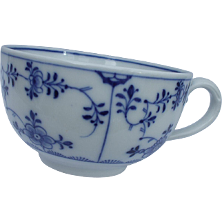 A Fine and Delightful Antique Meissen Blue and White Cup Circa 1870