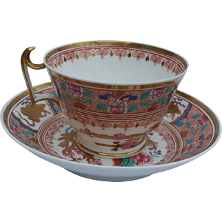 A Fine and Attractive Antique Spode Cup and Saucer Circa 1806 - 1820