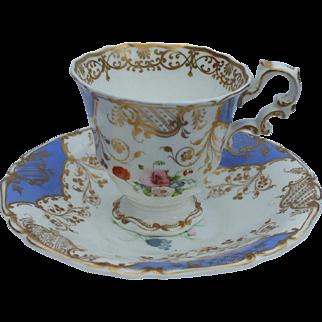 A Fine 19th Century Copeland & Garrett Cup and Saucer Circa 1833 - 1847