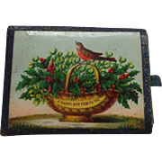 A Sweet Victorian 'Happy New Year' Needle Case