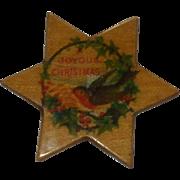 A Useful Little 'Joyous Christmas' Antique Thread Winder