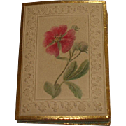 Delightful Victorian Lady's Embossed Card Notebook