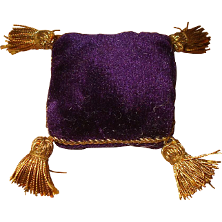 A Delightful Small 19thc Velvet Pin Cushion