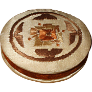 An Attractive Silk and Embroidered Pin Cushion Circa 1910