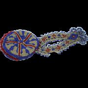 A Pretty and Unusual Victorian Patriotic Beadwork Purse