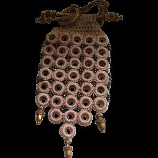 A Stylish Victorian Crochet Purse with Cut Steel Beadwork
