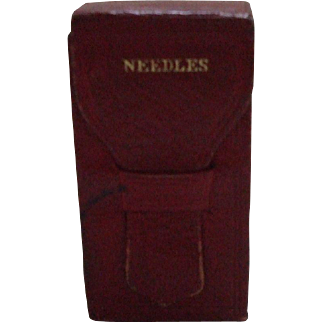 An Excellent Red Leather Needlecase Circa 1840