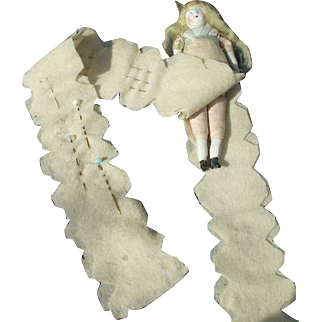 Unusual  and Rare 19th Century Needle Case Doll