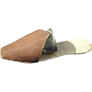 Charming Victorian Thimble Shoe and Thimble