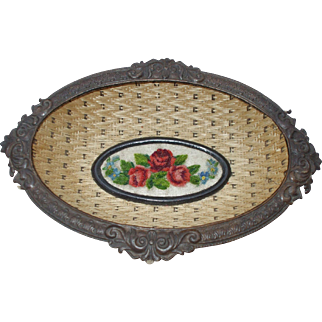 A  Rare and Delightful Antique Pressed Card Dish In Exceptional Condition
