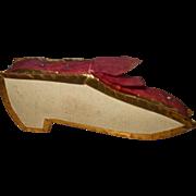 Delightful Regency Shoe Pin Cushion Circa 1830
