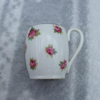 A Good Quality Miniature Doulton Mug With Floral Decoration C1920's.