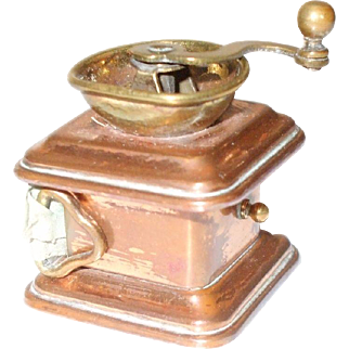 Late 19th Century Tape Measure in The Form of a Coffee Grinder