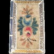 Wonderful  19th Century Theorem Work Book Form Pincushion