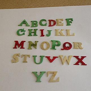 19th Century Child's Alphabet Teaching Aid