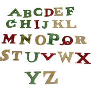 19th Century Child's Bone (bovine) Alphabet Teaching Aid