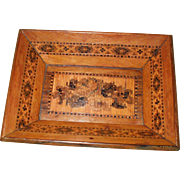 A Sweet and Attractive Small 19th Century Tunbridge Ware Pin/Trinket Tray  ++ Reserved for JS ++