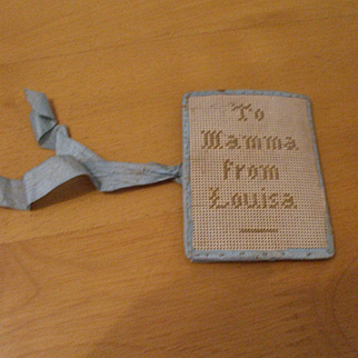 Endearing 19th-Century Needlecase With 'To Mamma From Louisa'