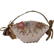 A Charming Early 19th Century Basket Form Pincushion