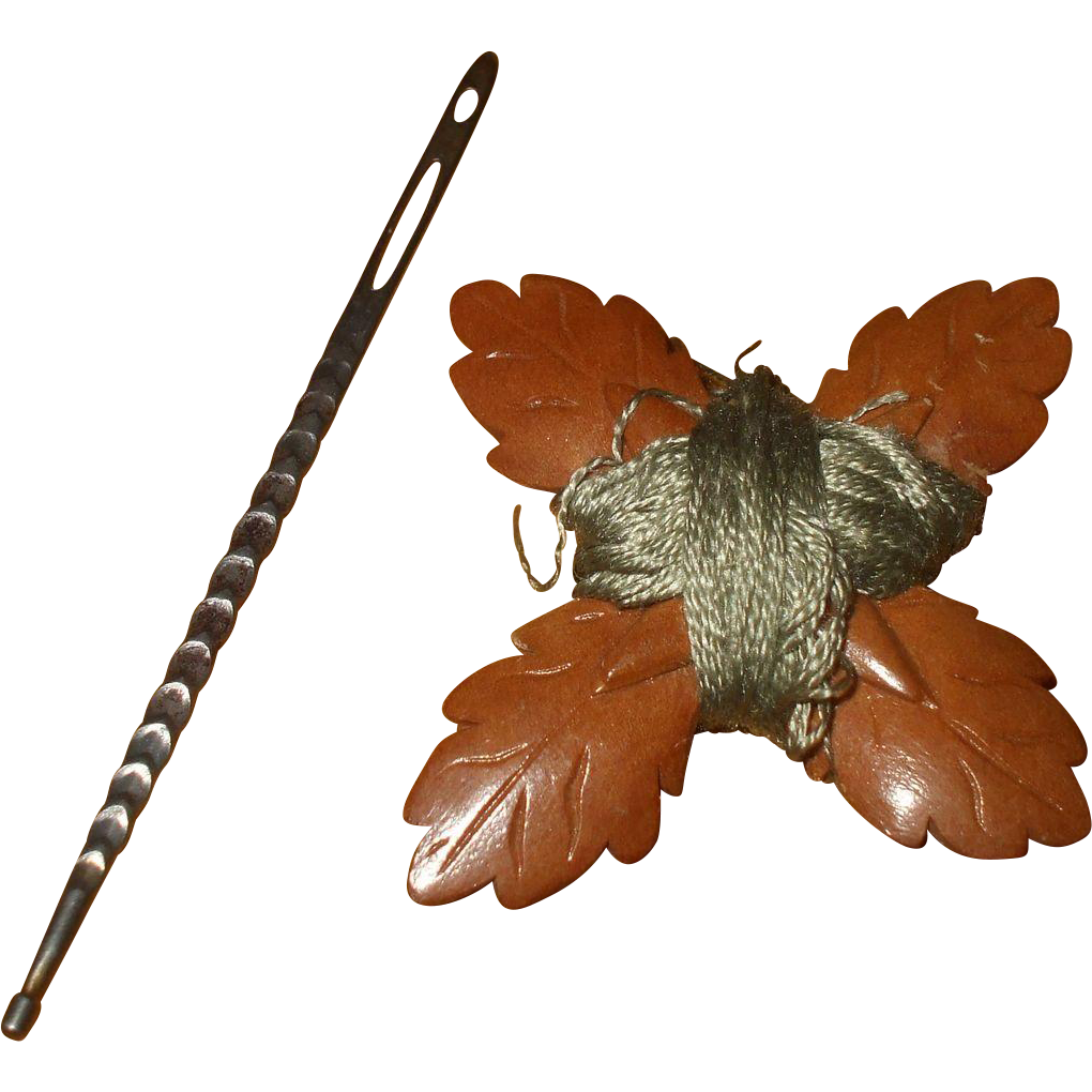 Unusual 19th Century Thread Winder and Bodkin