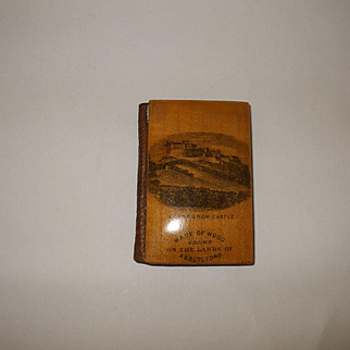 An Interesting 19th Century Needlecase Made From Wood From Sir Walter Scott's Home