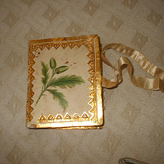 A Rare Late 18th C/Early 19th Century Hand Painted Needle Case