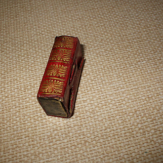 A Charming Little Regency Red Leather Book Form Needle Case Circa 1820