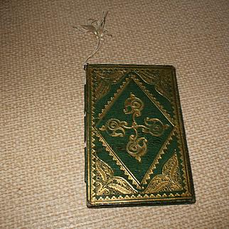 A Useful Green Leather Pocket Aide Memoir Circa 1850