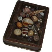 Delightful Victorian  Book Form Shell Work Needle Box