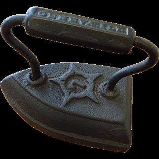 Antique 19th Century Iron and Trivet Set