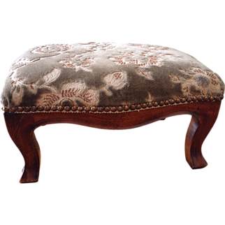 Vintage Queen Anne Style Footstool