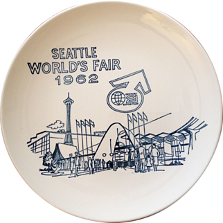 Vintage World's Fair Plate