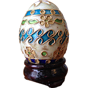 Small Cloisonne Egg with Stand