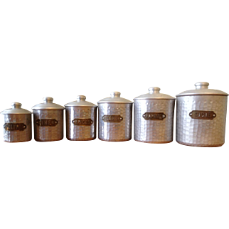 Vintage French Spice Canister Set