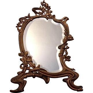 Vintage French Gilded Table Mirror