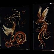 Pair of Persian Moarragh Paintings