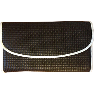 Vintage Black and White Clutch Purse