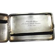 Sterling Silver William Neale & Sons LTD Cigarette Case~ Engraved WWI Era