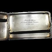 Sterling Silver William Neale & Sons LTD Cigarette Case~ Engraved WWI Era