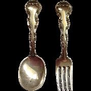 Gorham Strasbourg Pattern Vintage Baby Fork & Spoon Set
