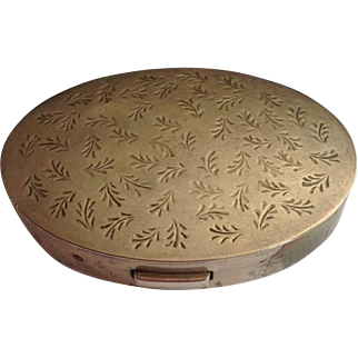 Sterling Silver Mary Dunhill Oval Compact