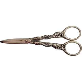 Christofle France Silver Plated Grape Cutting Scissors