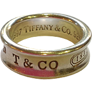 Tiffany & Co. Sterling Silver 1997 Band~ Size 7.25