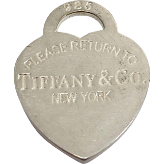 Sterling Silver Tiffany & Co. Large Charm