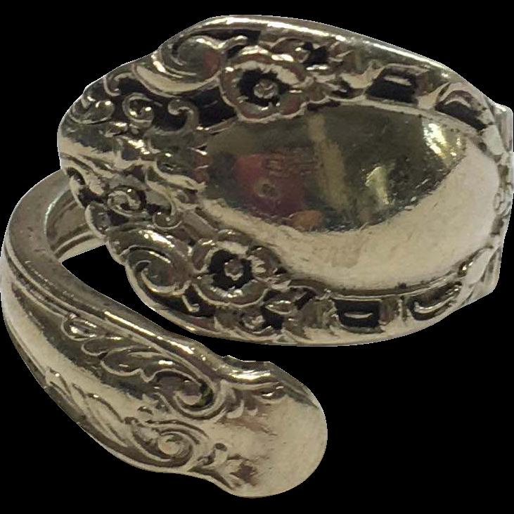 Vintage Alvin Sterling Prince Eugene Spoon Ring