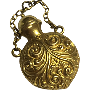 22k Antique Victorian Perfume/Poison Bottle Fob Pendant