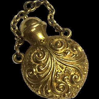22k Antique Victorian Perfume/Poison Bottle Fob Pendant