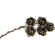 Sterling Silver Craft Coro Flower Bouquet Pin/ Brooch