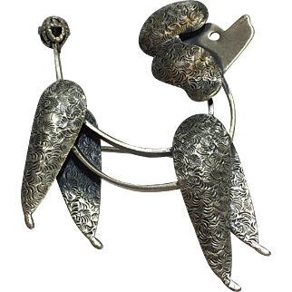 Sterling Silver Beau Poodle Pin/ Brooch