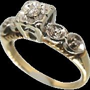 Vintage 14k Gold Diamond Engagement/ Wedding/ Promise Ring